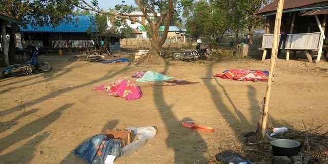 Platsen där attacken utfördes STR / AFP