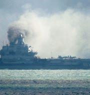 Det ryska hangarfartyget Admiral Kuznetsov deltar för första gången i striderna. Gareth Fuller / TT / NTB Scanpix