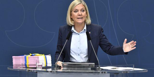 Finansminister Magdalena Andersson, S.  Claudio Bresciani/TT / TT NYHETSBYRÅN