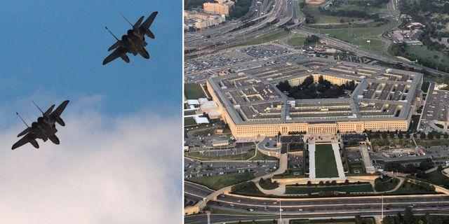 F15-plan/Pentagons högkvarter. Arkivbilder. TT/Wikipedia