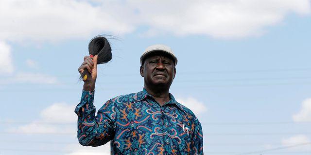 Oppositionsledare Raila Odinga. THOMAS MUKOYA / TT NYHETSBYRÅN
