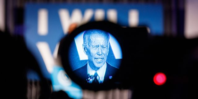 Joe Biden, Barack Obamas förra vicepresident och nu demokratisk kandidat till valet 2020.  Dustin Chambers / GETTY IMAGES NORTH AMERICA