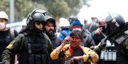 Upprorsstämning på gatorna i La Paz, Bolivia.  Carlos Garcia Rawlins / TT NYHETSBYRÅN
