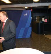 Stefan Löfven (S) och Ulf Kristersson (M) efter söndagens partiledardebatt i SVT. Fredrik Sandberg/TT / TT NYHETSBYRÅN