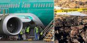 Arkivbild på Boeing 737 Max-8/olycksplatsen i Etiopien. TT