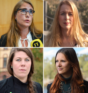 Karolina Skog, Janine Alm Ericson, Pernilla Stålhammar, Åsa Lindhagen, Märta Stenevi, Elin Söderberg, Rebecka Le Moine, Annika Hirvonen. TT/MP