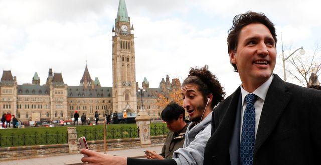 Kanadas premiärminister Justin Trudeau. Stephane Mahe / TT NYHETSBYRÅN