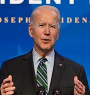 Joe Biden/Vita huset förbereds för installationen. TT