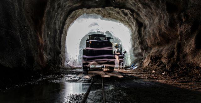 Interiör från LKAB:s gruva i Malmberget. Carl-Johan Utsi / TT / TT NYHETSBYRÅN