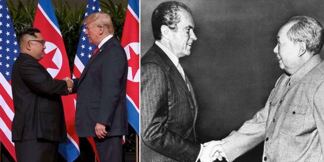 Kim Jong-Un och Donald Trump / Richard Nixon och Mao Zedong TT