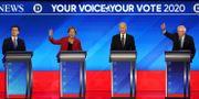 Pete Buttigieg, Elizabeth Warren, Joe Biden och Bernie Sanders JOE RAEDLE / GETTY IMAGES NORTH AMERICA