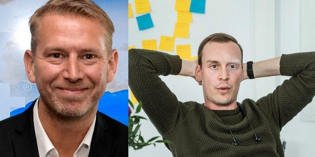 Northvolts vd Peter Carlsson och Johannes Schildt, vd för Kry.  TT