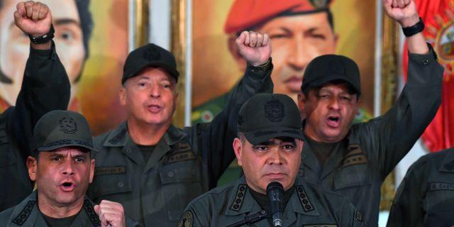 Venezuelas försvarsminister Vladimir Padrino. YURI CORTEZ / AFP