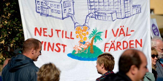 Arkivbild: Demonstration mot vinster i välfärden. JANERIK HENRIKSSON / TT / TT NYHETSBYRÅN