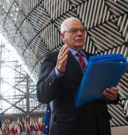 EU:s utrikeschef Josep Borrell.  Aris Oikonomou / TT NYHETSBYRÅN