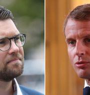 Jimmie Åkesson. Emmanuel Macron.