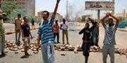 Demonstranter i Kharoum. EBRAHIM HAMID / AFP
