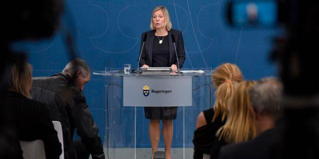 Finansminister Magdalena Andersson (S).  Thommy Tengborg/TT / TT NYHETSBYRÅN