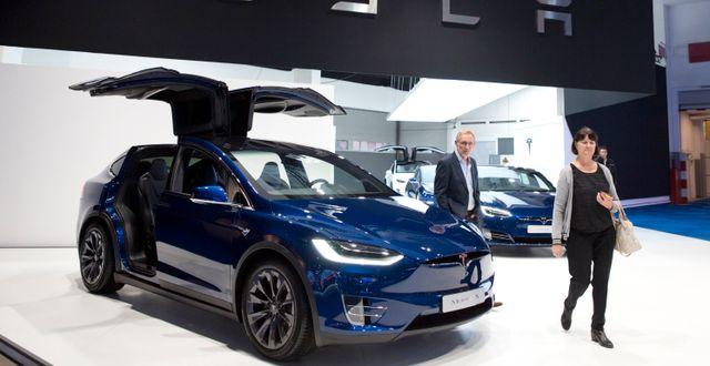 Tesla Model X.  Virginia Mayo / TT NYHETSBYRÅN