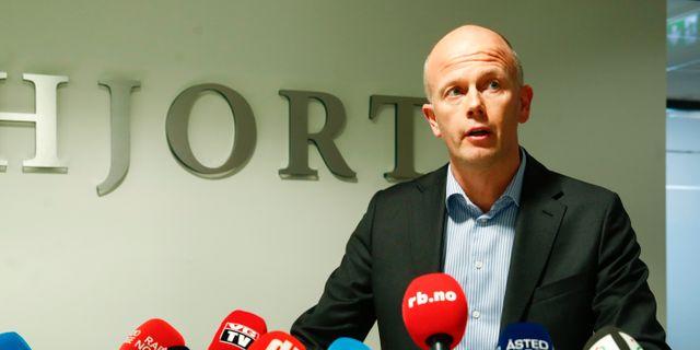 Svein Holden vid en tidigare pressträff.  Terje Pedersen/NTB scanpix / TT / TT NYHETSBYRÅN