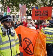 Stora protester i London. Dominic Lipinski / TT NYHETSBYRÅN