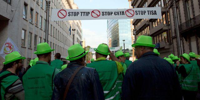Lugn forsta eu protest i kopenhamn