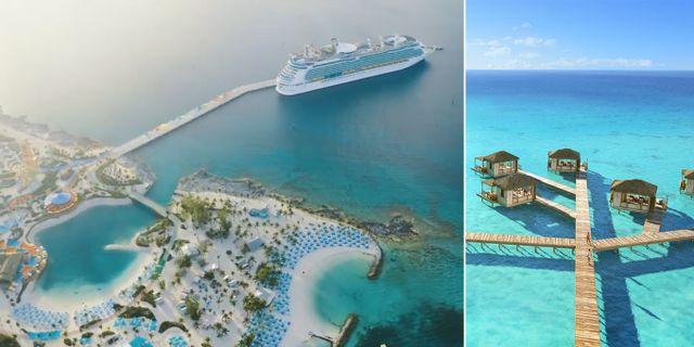 Nu öppnar paradisön som bara välkomnar kryssningsturister. Royal Caribbean/Youtube