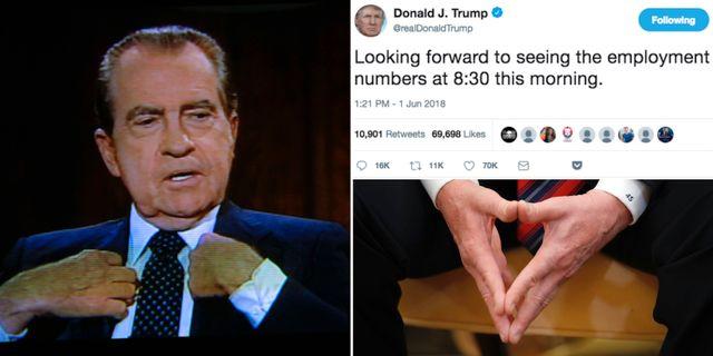 Nixon och Trumps tweet.  TT