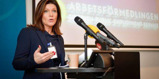 Arbetsmarknadsminister Eva Nordmark. Foto:Anders Wiklund/TT