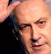Benny Gantz och Benjamin Netanyahu. TT