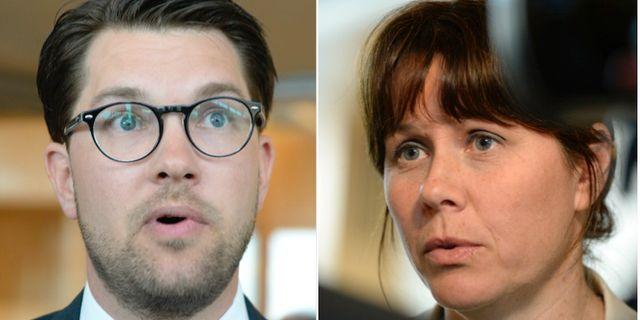 Jimmie Åkesson (SD / Åsa Romson (MP) TT