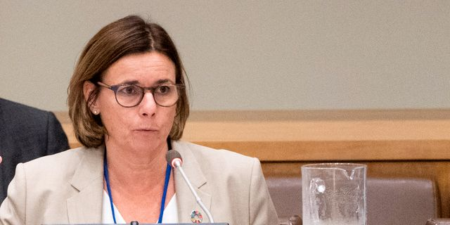 Miljöminister Isabella Lövin i panelen vid Climate action summit inför FN:s stora klimatkonferens. Pontus Lundahl/TT / TT NYHETSBYRÅN