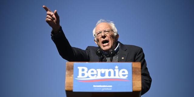 Bernie Sanders.  JOHANNES EISELE / AFP