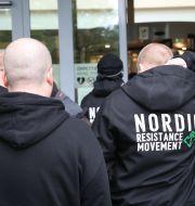 16 män med kopplingar till NMR ställdes inför rätta i Göteborg. Adam Ihse/TT / TT NYHETSBYRÅN