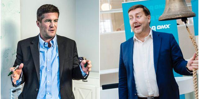 Från vänster, SBB:s vd Ilija Batljan och Hemfosas grundare Jens Engwall  Lars Pehrson / SvD / TT