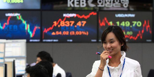 Illustrationsbild börshandel i Sydkorea. Ahn Young-joon / TT / NTB Scanpix