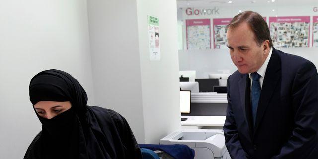 Löfven på besök på saudiskt rekryteringsföretag Henrik Montgomery/TT / TT NYHETSBYRÅN