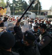 Demonstrationer i Istanbul.  Emrah Gurel / TT NYHETSBYRÅN