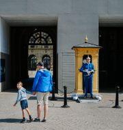 Vid Stockholms slott var det ovanligt ödsligt i sommar. Simon Rehnstr m/SvD/TT / TT NYHETSBYRÅN