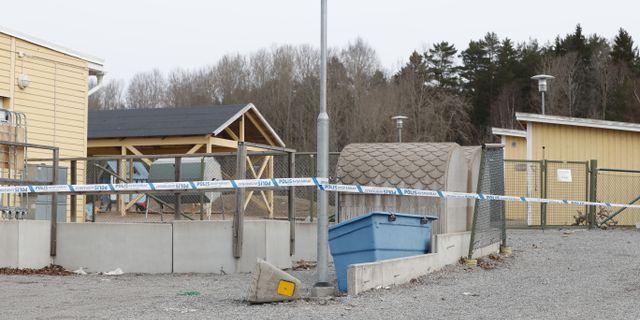 Avspärrningar på brottsplatsen, Christine Olsson/TT / TT NYHETSBYRÅN