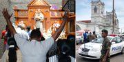 Bild från kyrkan i dag / strax efter explosionen.  TT