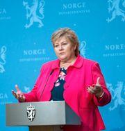 Erna Solberg. Björn Larsson Rosvall/TT / TT NYHETSBYRÅN