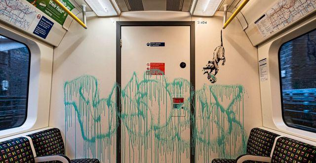 Banksys senaste konstverk TT NYHETSBYRÅN