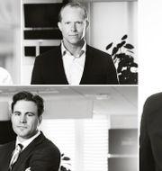 Från vänster: Angelica Hanson, Erik Hansén, Karl-Mikael Syding och Fredrik Warg..