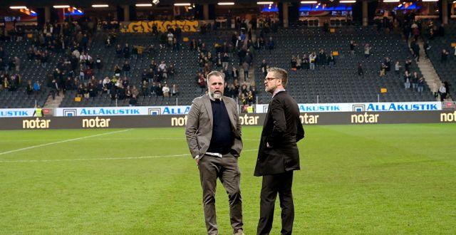 Björn Wesström och Rikard Norling.  Janerik Henriksson/TT / TT NYHETSBYRÅN