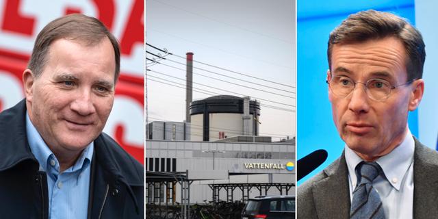 Statsminister Stefan Löfven och M-ledaren Ulf Kristersson  TT
