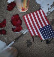 Från minnesplatsen i Dayton där man hedrar offren. SCOTT OLSON / GETTY IMAGES NORTH AMERICA