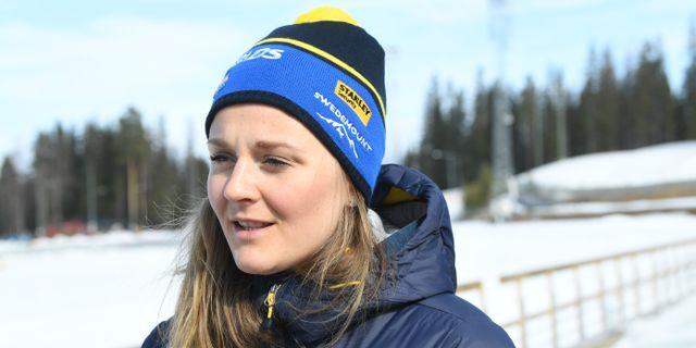 Stina Nilsson på tisdagen. Fredrik Sandberg/TT / TT NYHETSBYRÅN