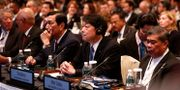 Japans försvarsminister Itsunori Onodera i mitten. EDGAR SU / TT NYHETSBYRÅN