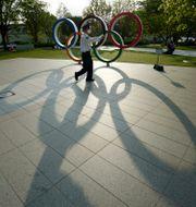 Olympiska ringarna i Tokyo.  Eugene Hoshiko / TT NYHETSBYRÅN